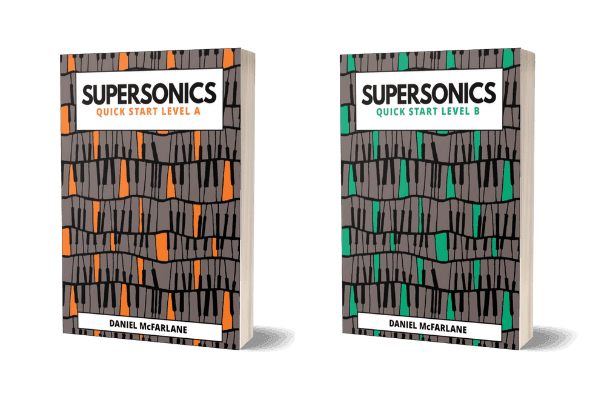 Supersonics Piano Quick Start books