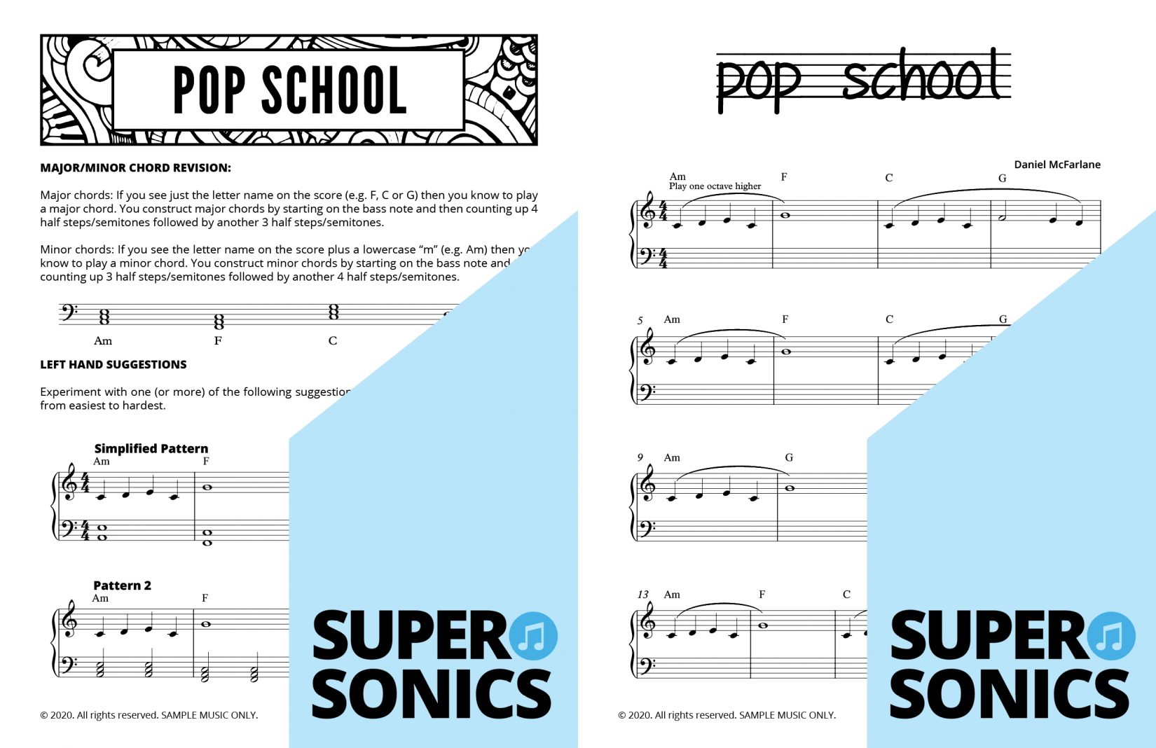 Supersonics Pop School sample