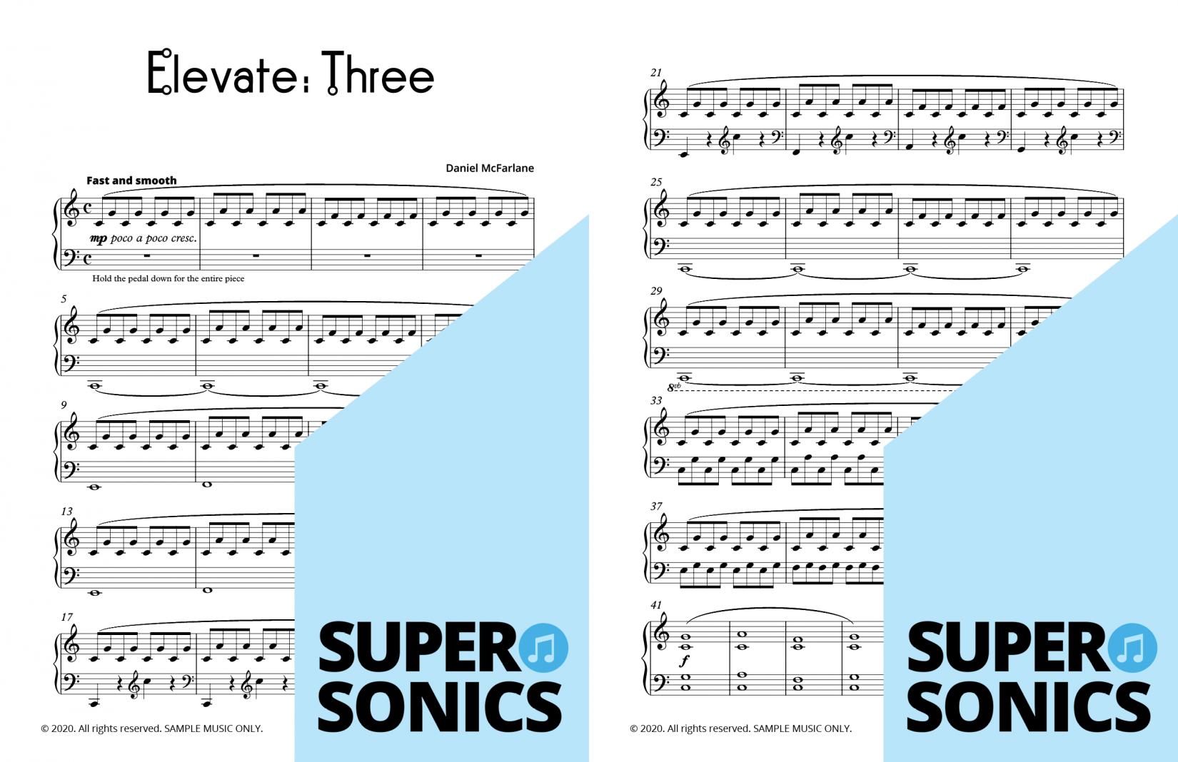 Supersonics Piano Elevate Studies sample