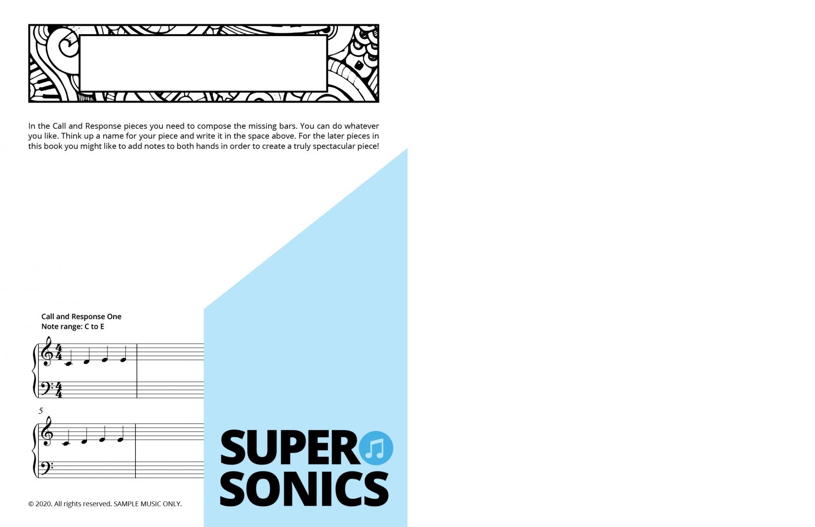 Supersonics Piano Method Module 1 sample