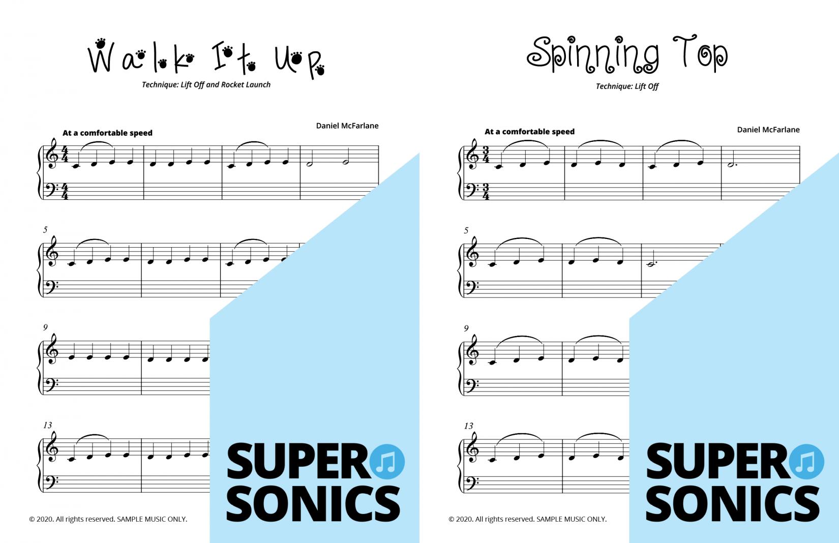Supersonics Piano Method Module 2 sample