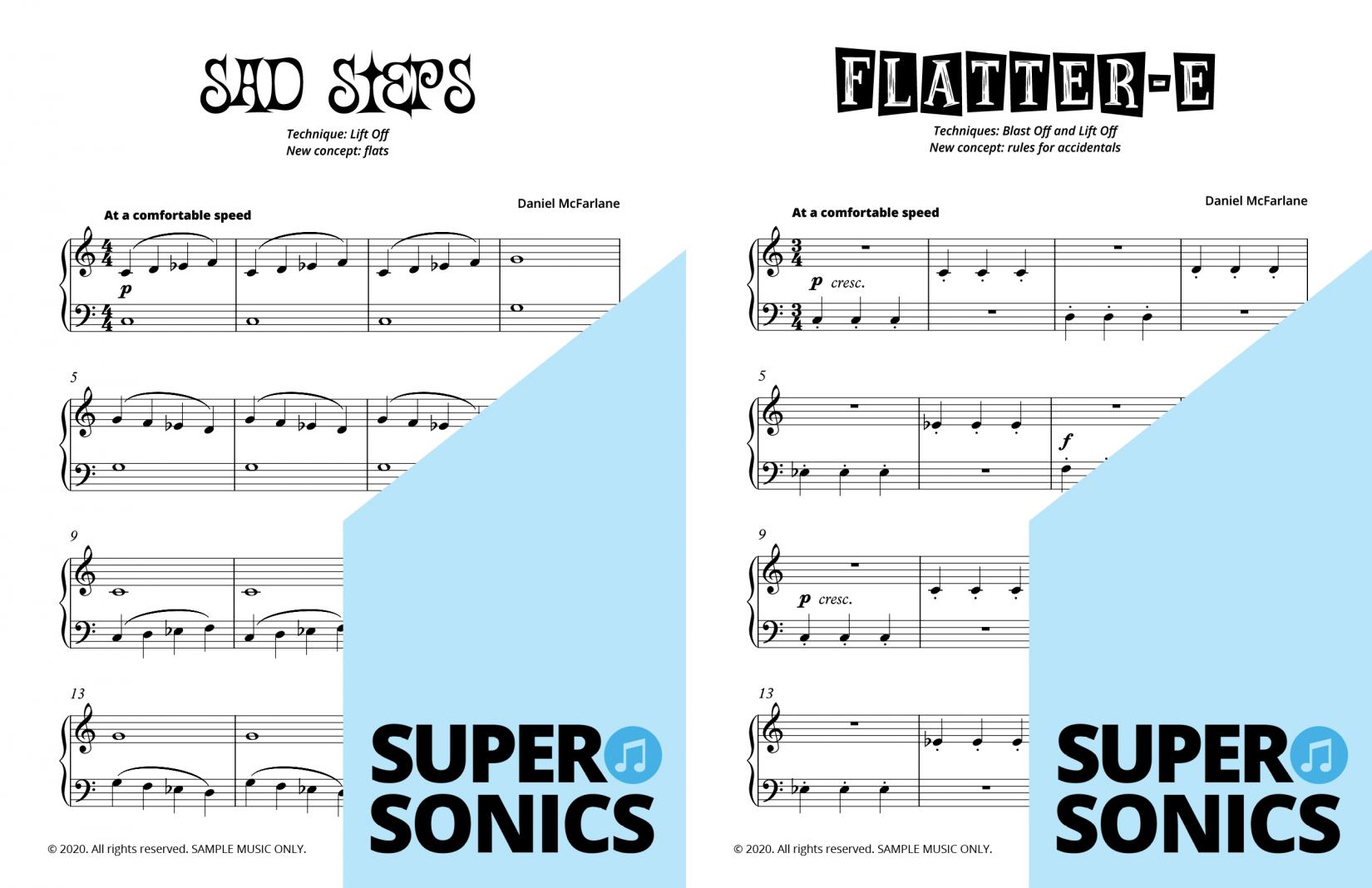 Supersonics Piano Method Module 4 sample