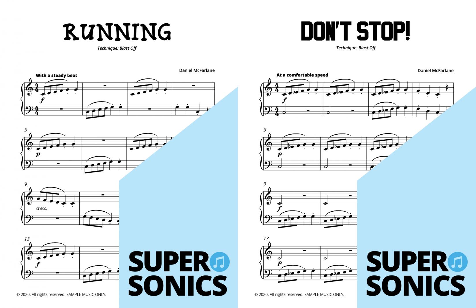 Supersonics Piano Method Level 5 sample