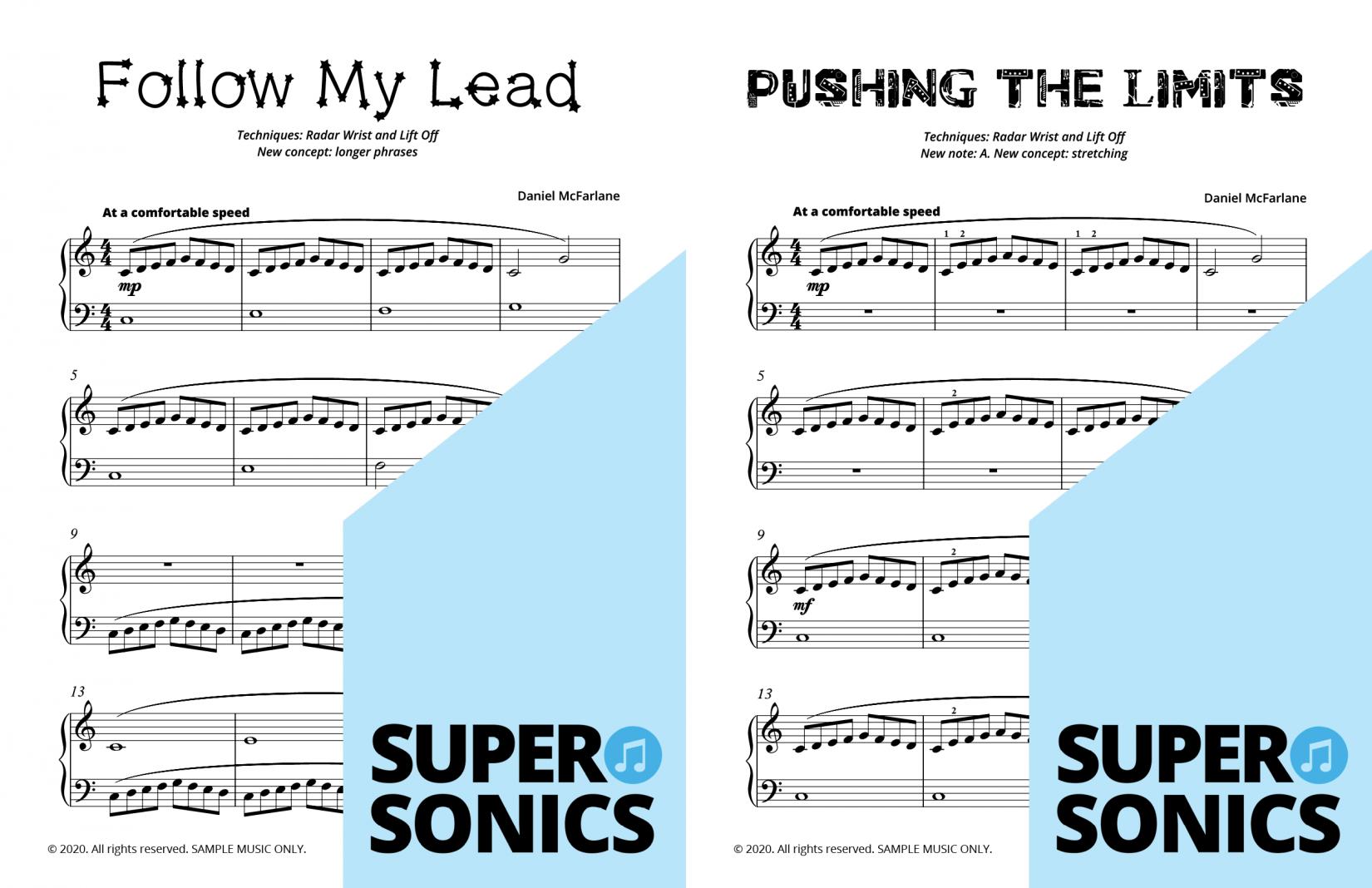 Supersonics Piano Method Level 6 sample