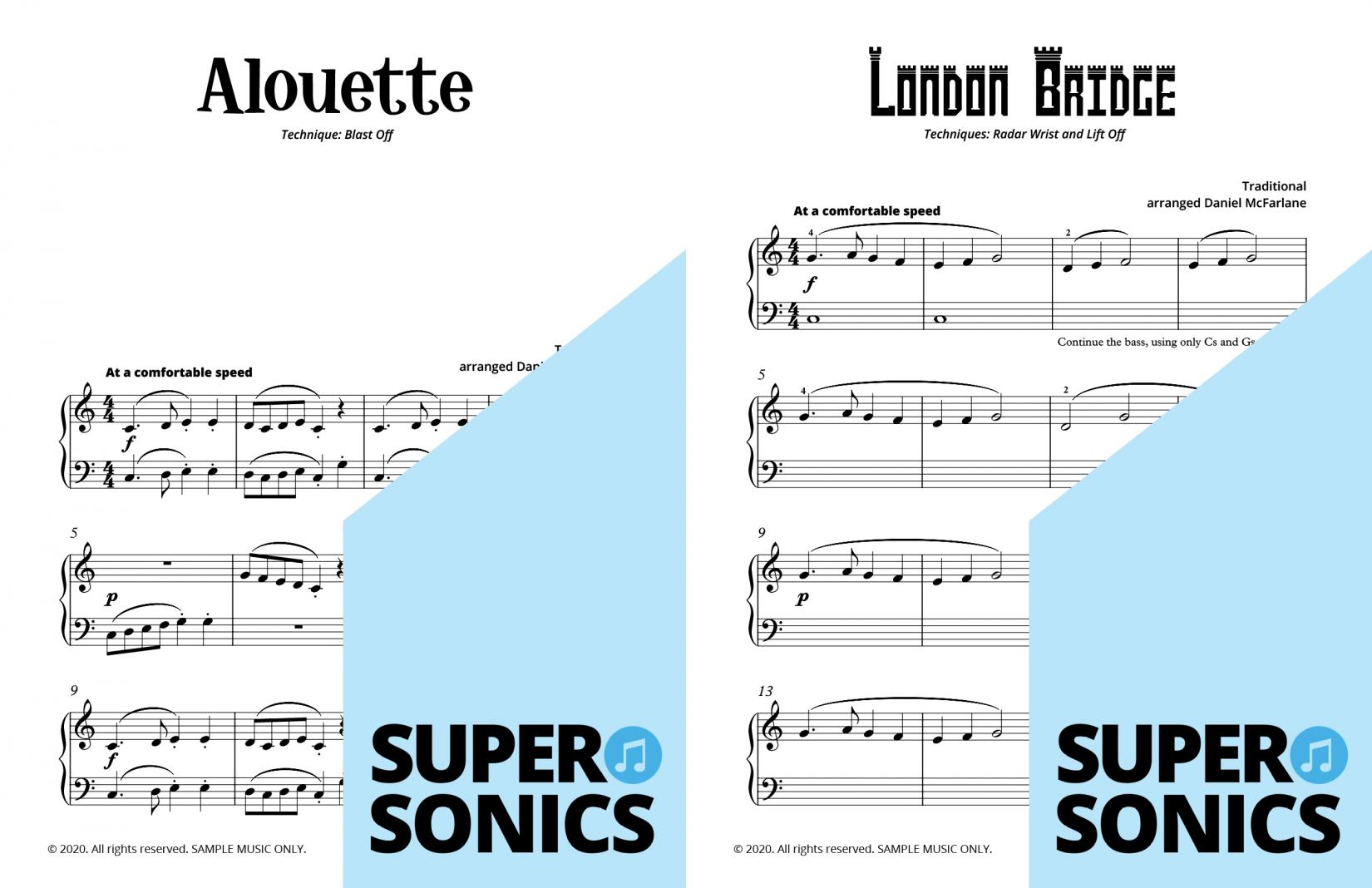 Supersonics Piano Method Level 7 sample