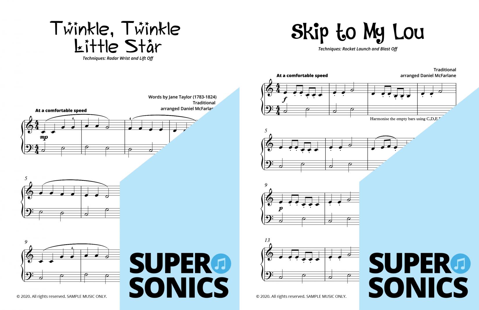 Supersonics Piano Method Level 8 sample
