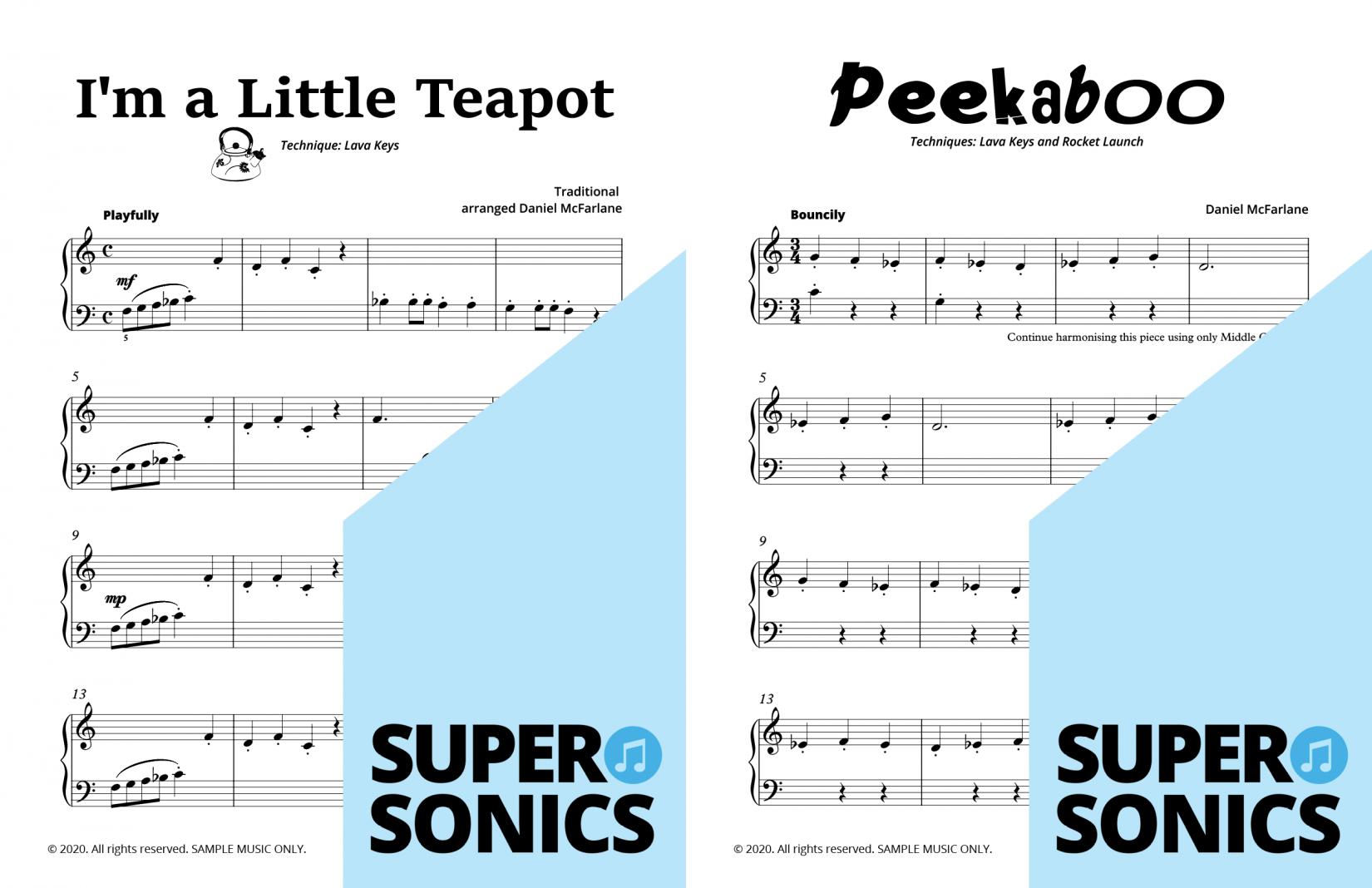 Supersonics Piano Method Level 9 sample