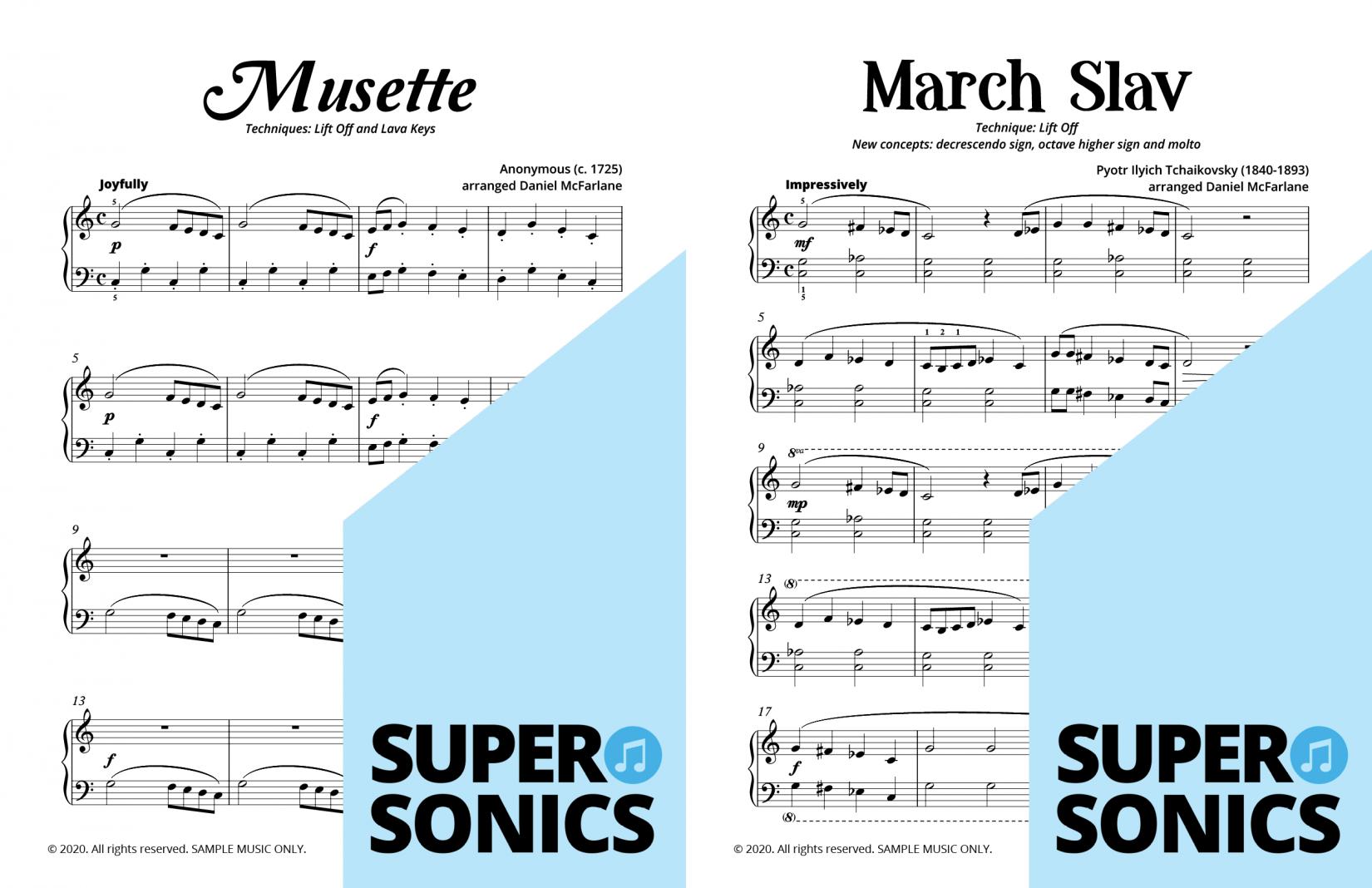 Supersonics Piano Method Level 10 sample