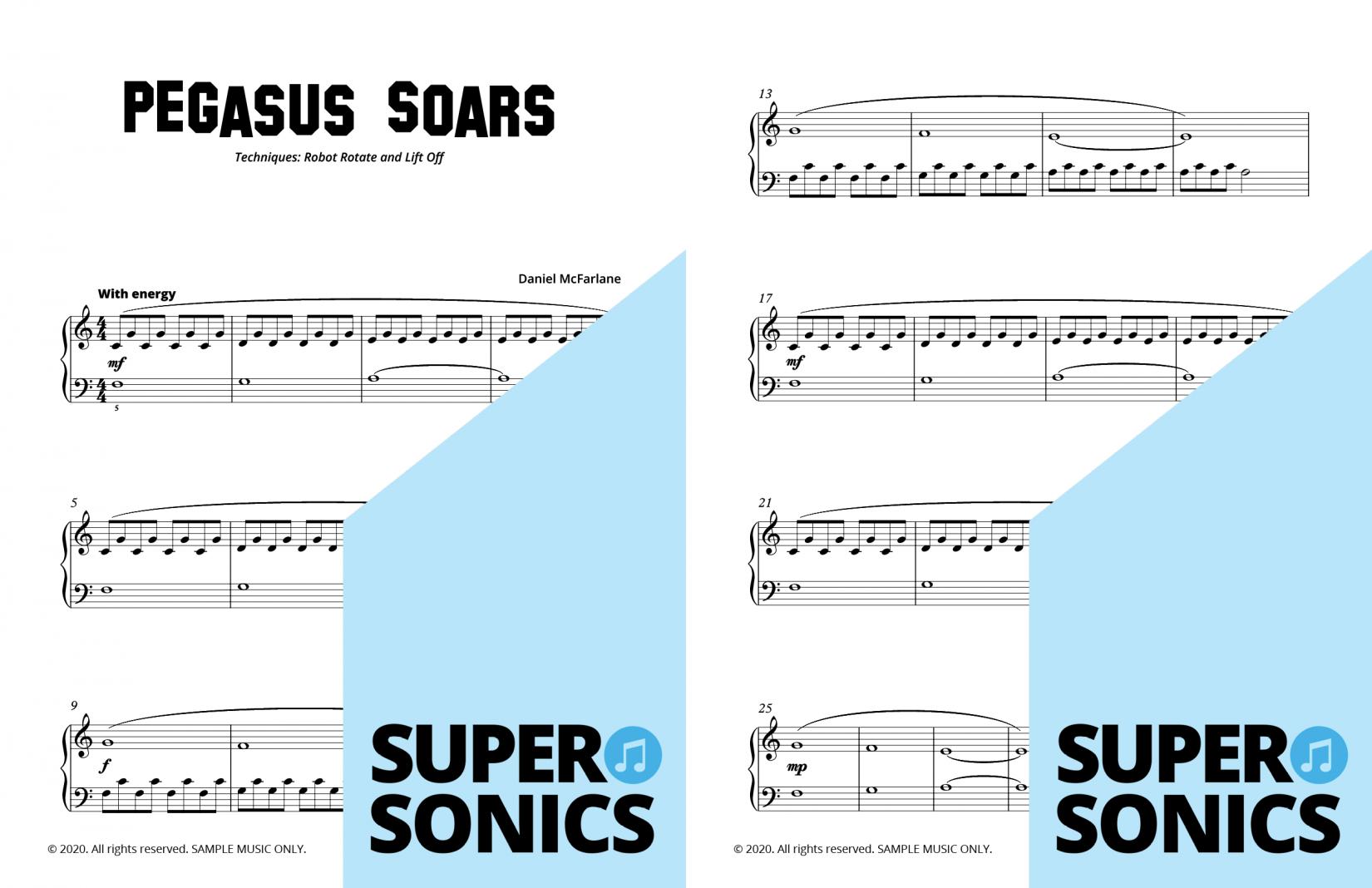 Supersonics Piano Method Level 11 sample