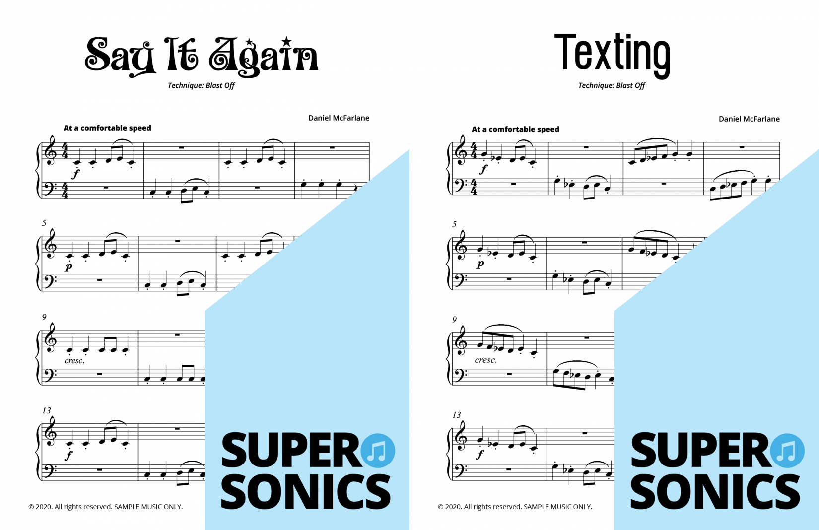 Supersonics Piano Method Module 5 sample