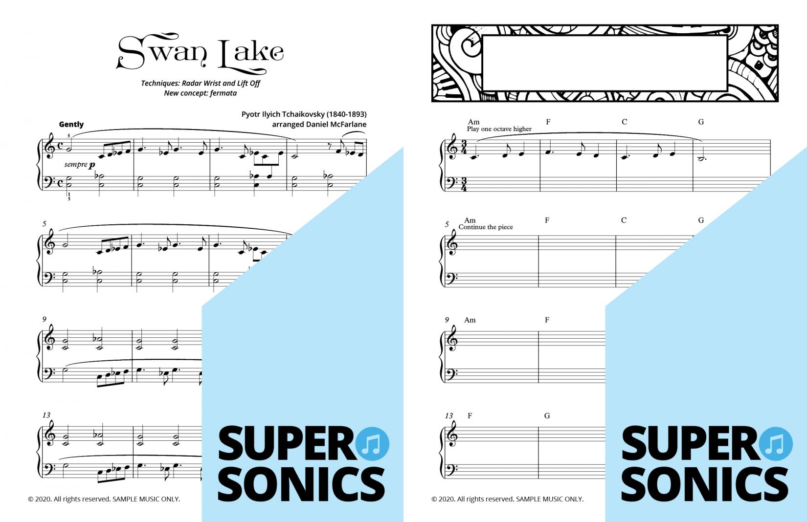 Supersonics Piano Method Module 12 sample