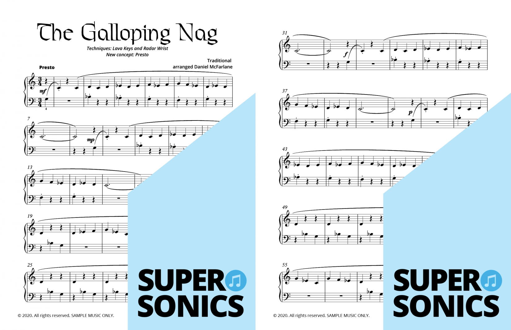 Supersonics Piano Method Module 14 sample