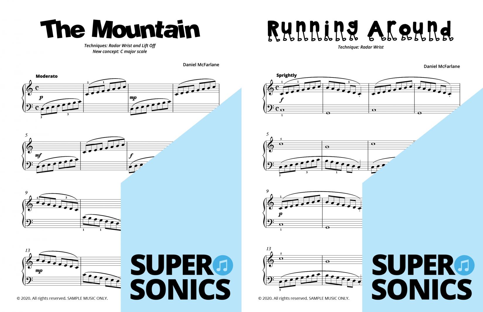 Supersonics Piano Method Module 15 sample