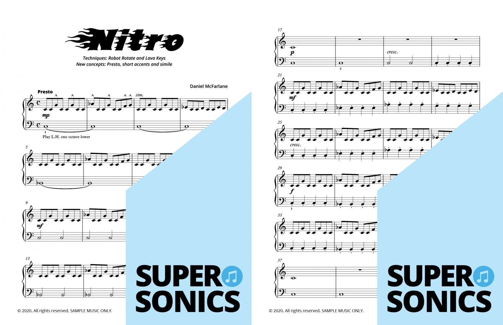 Supersonics Piano Method Module 16 sample