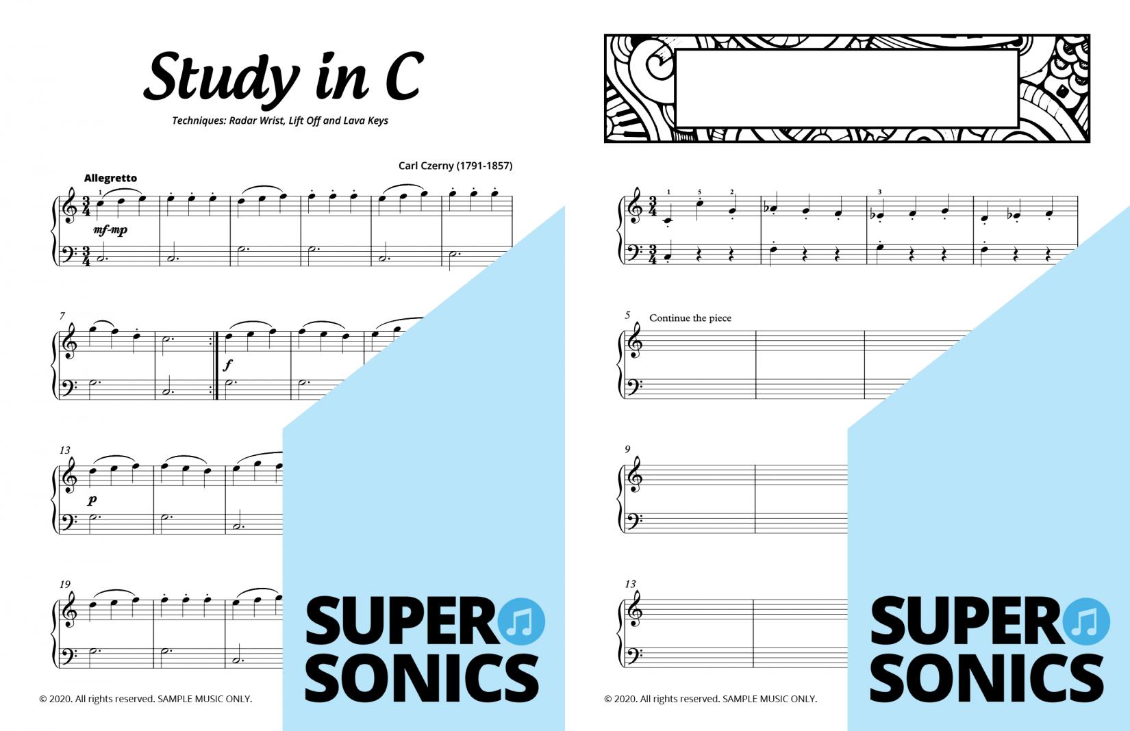 Supersonics Piano Method Module 18 sample