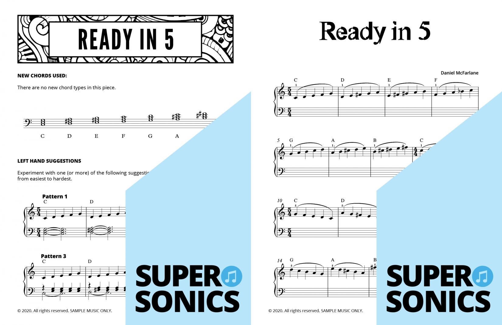 Supersonics Piano Method Module 19 sample