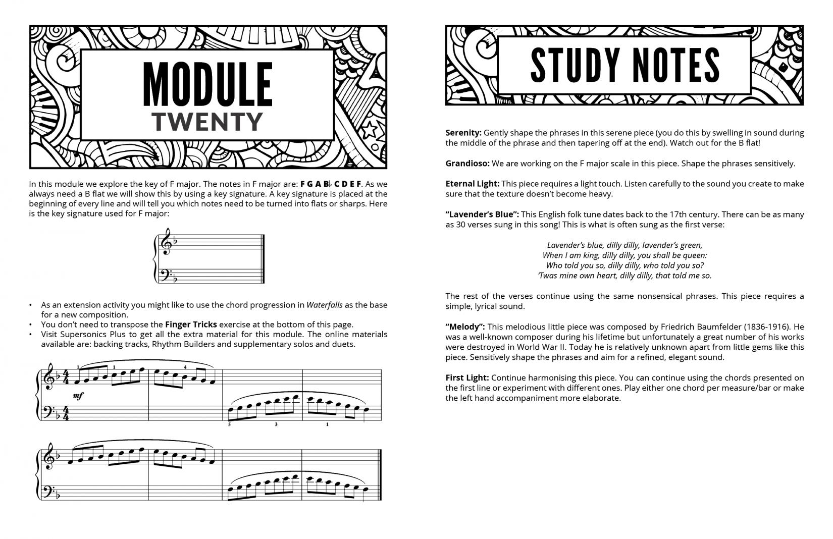 Supersonics Piano Method Module 20 sample