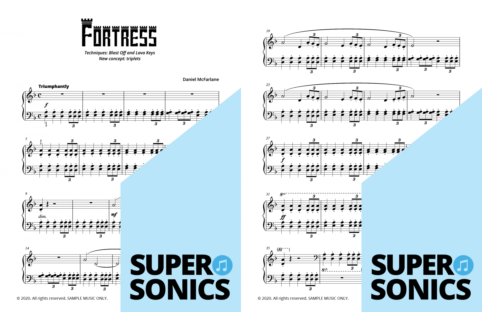 Supersonics Piano Method Module 21 sample