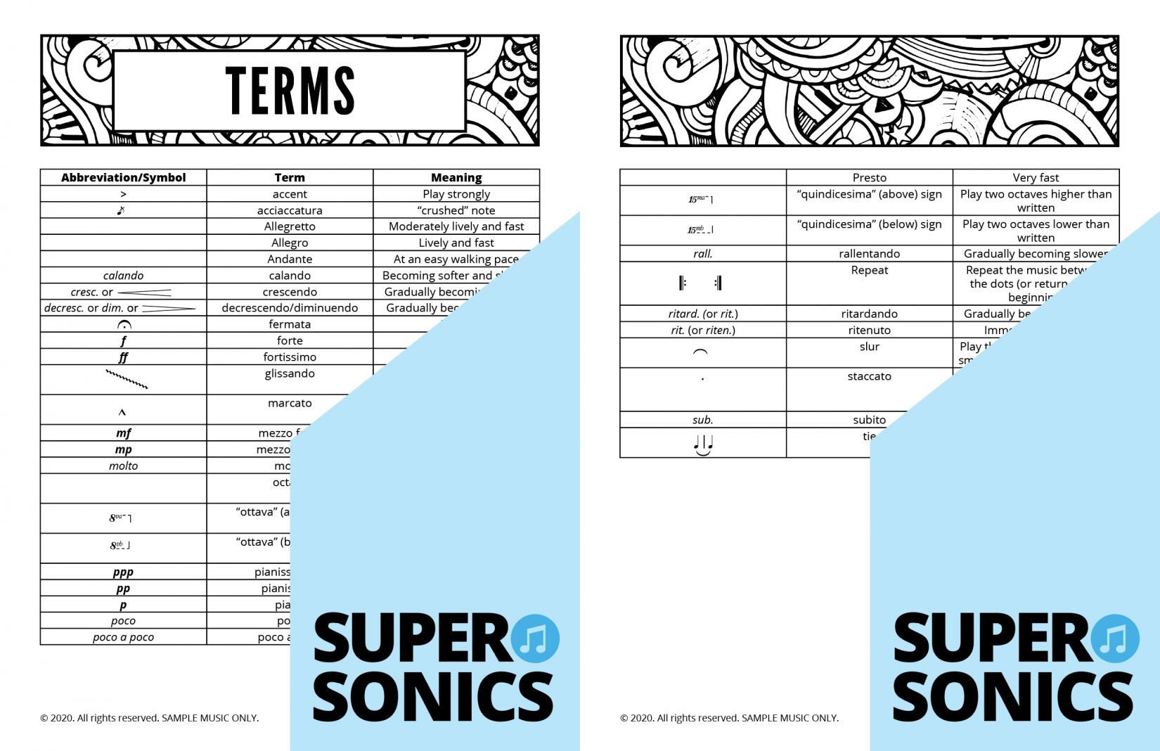 Supersonics Piano Method Module 22 sample