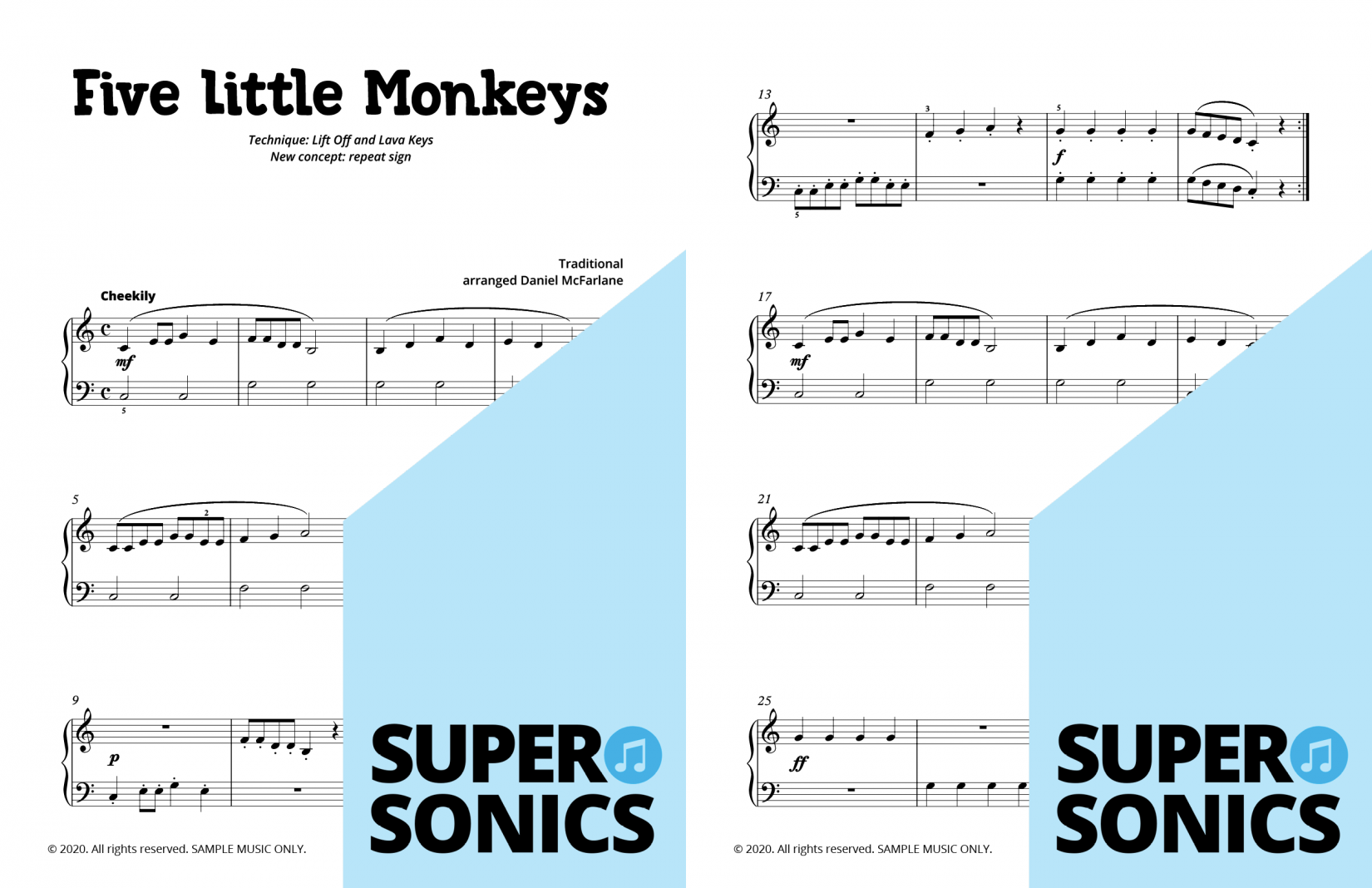 Supersonics Piano Method Quick Start A Reading and Technique sample