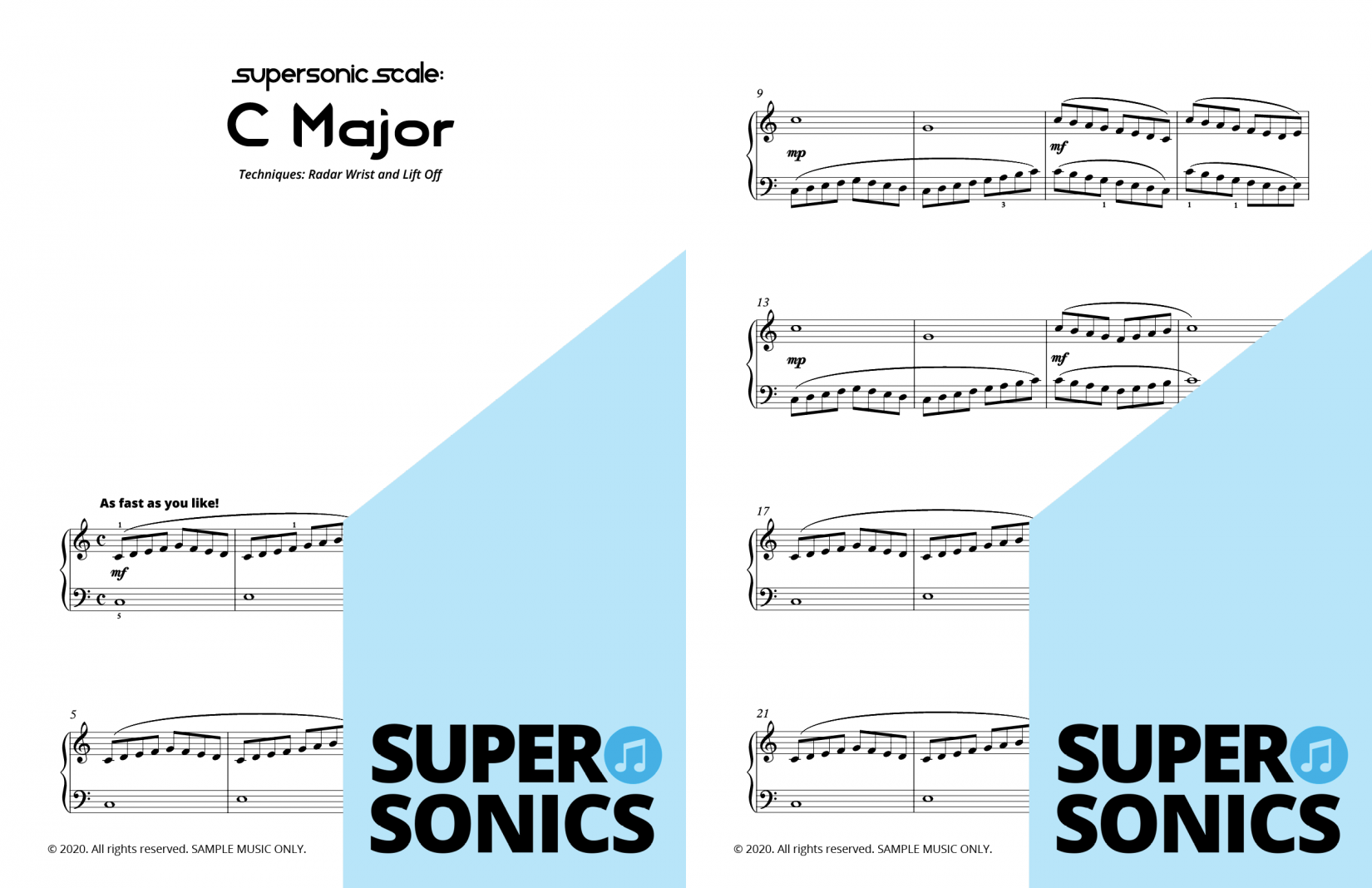 Supersonics Piano Method Module 23 sample
