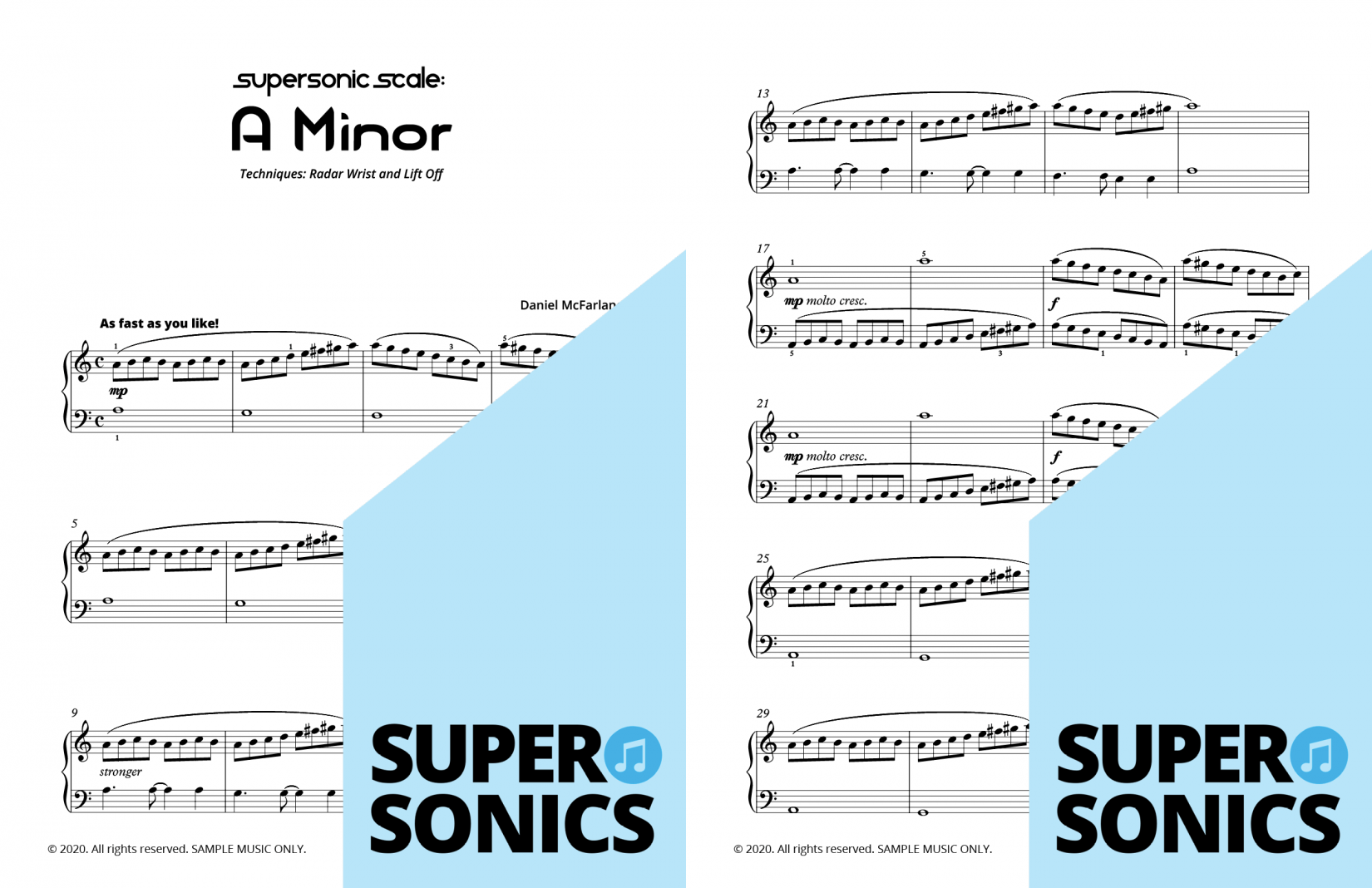 Supersonics Piano Method Module 24 sample