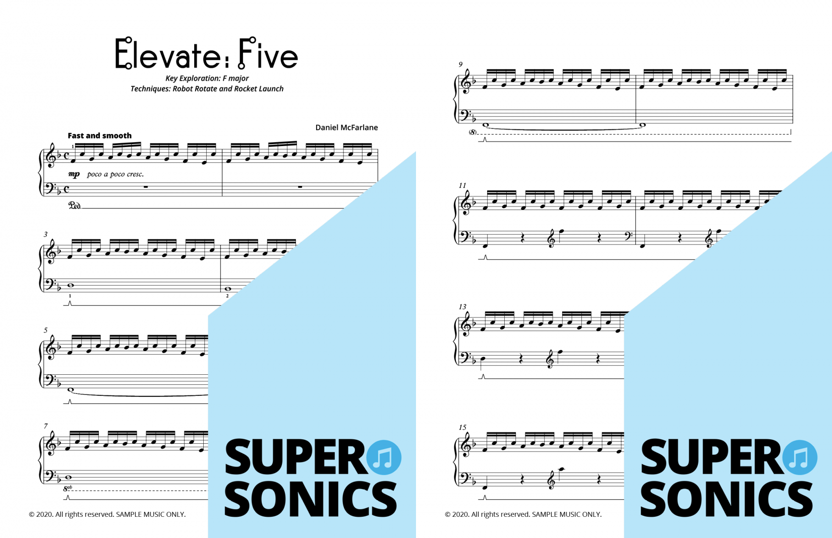 Supersonics Piano Method Module 25 sample