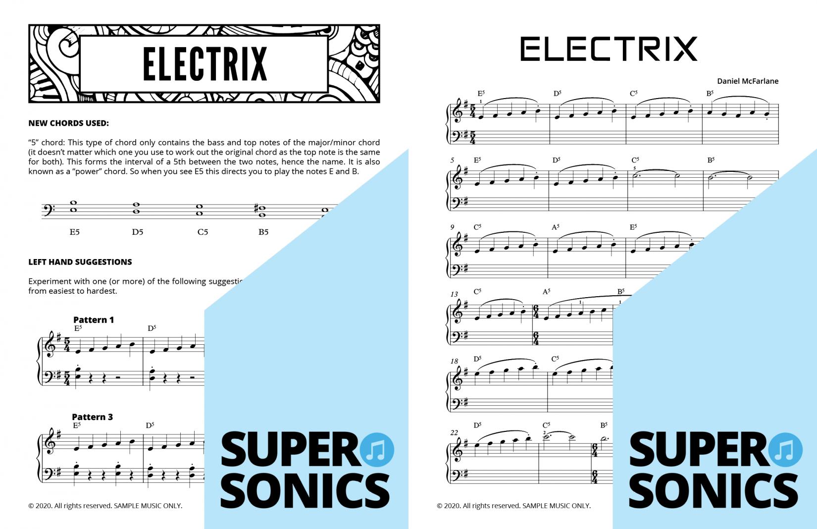 Supersonics Piano Method Module 28 sample