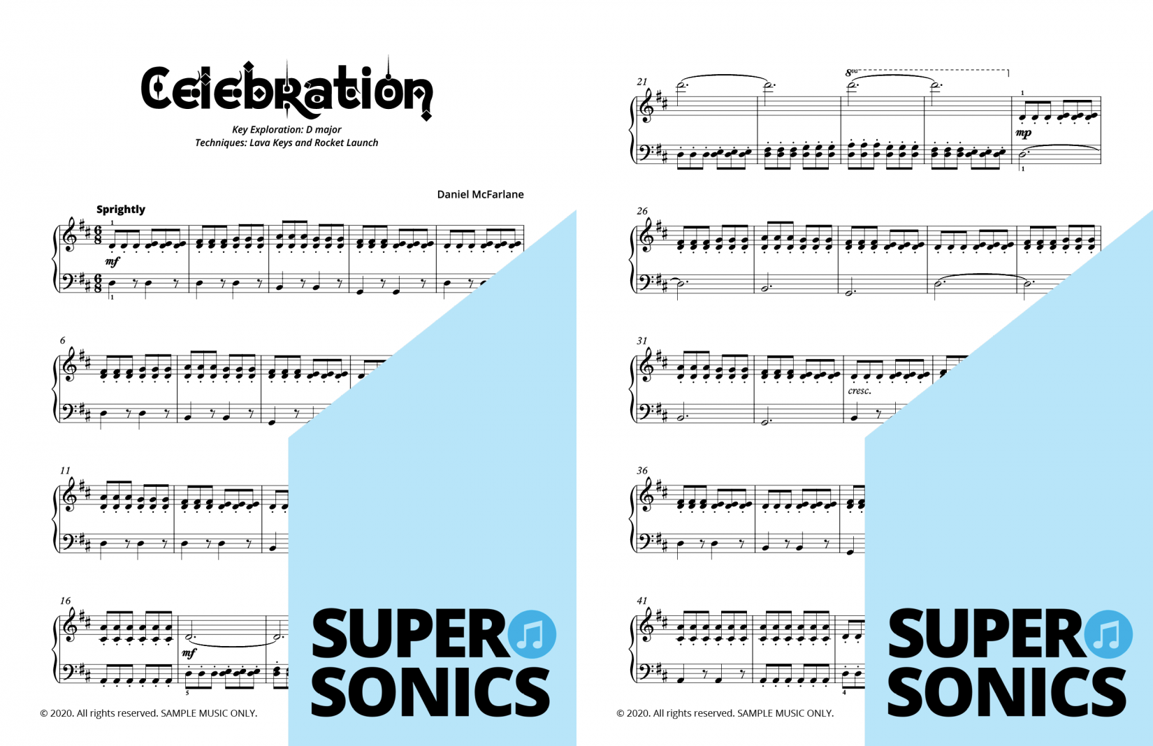 Supersonics Piano Method Module 29 sample