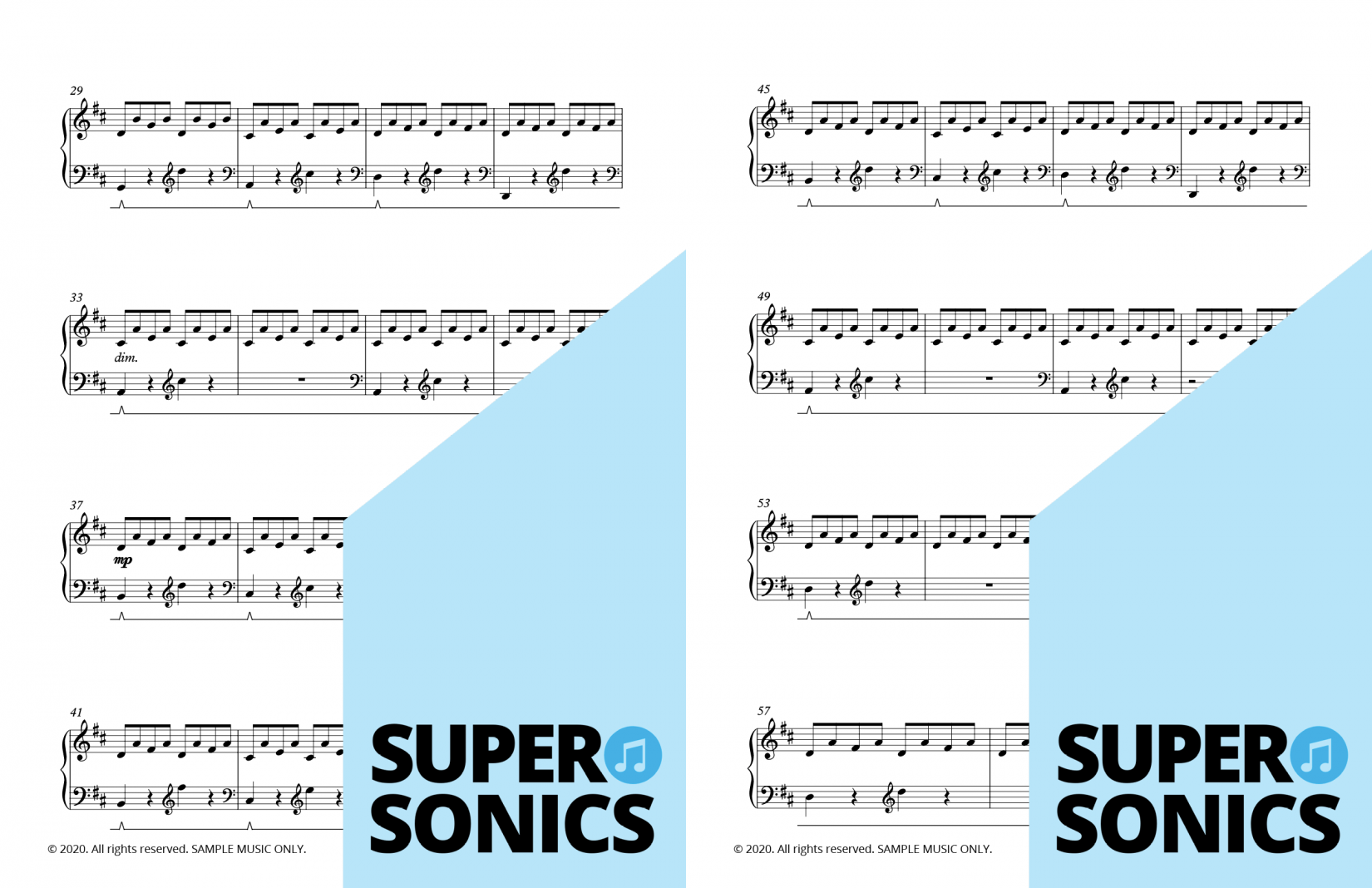 Supersonics Piano Method Module 29 sample
