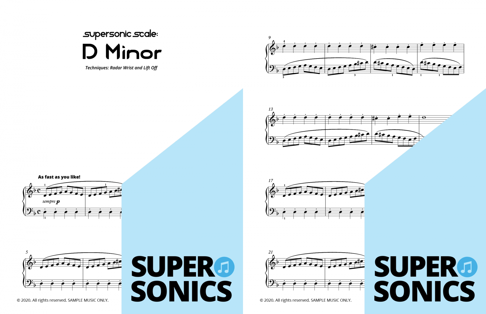 Supersonics Piano Method Quick Start B Key Explorations sample