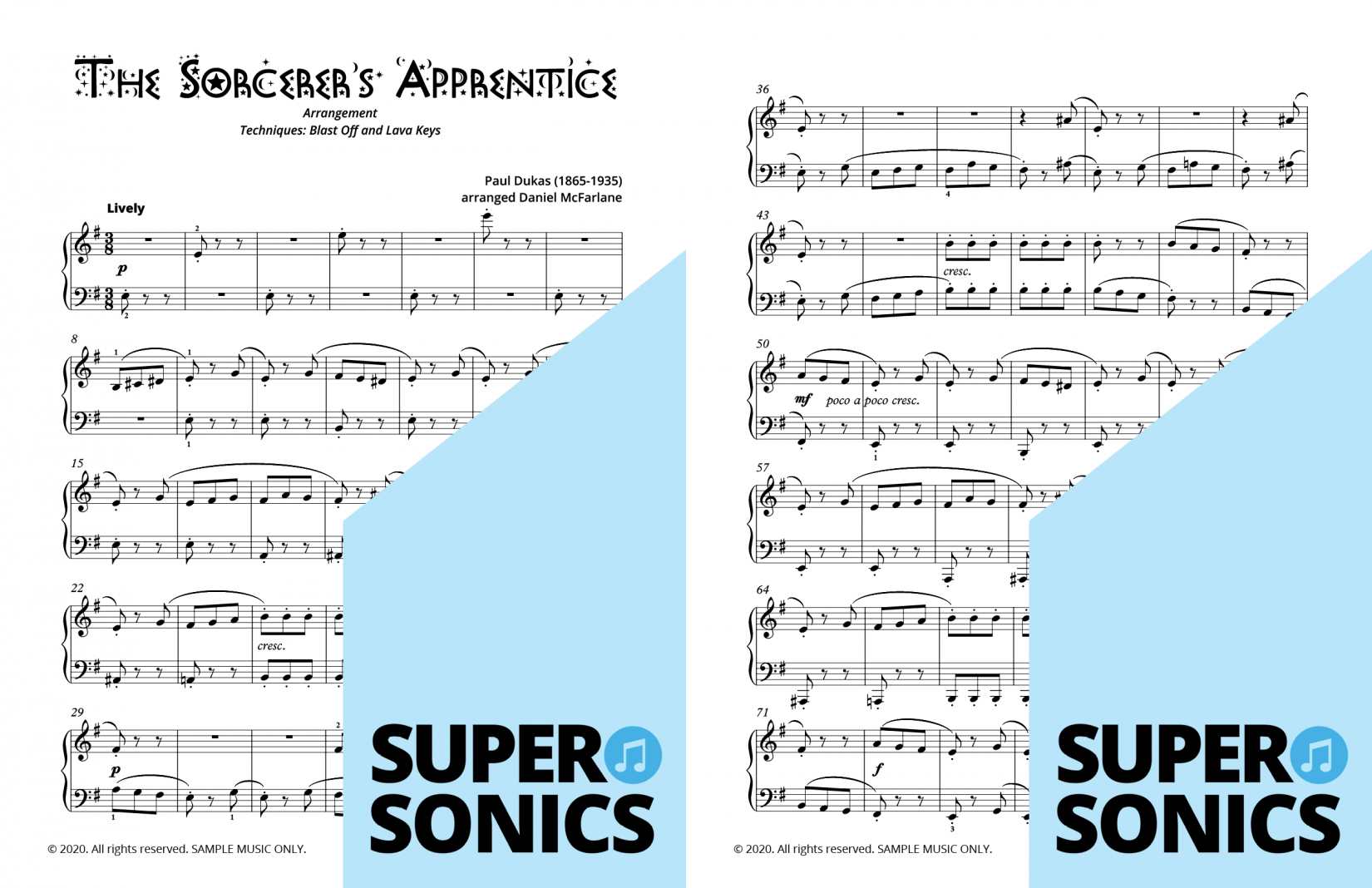 Supersonics Piano Method Quick Start B Arrangements sample