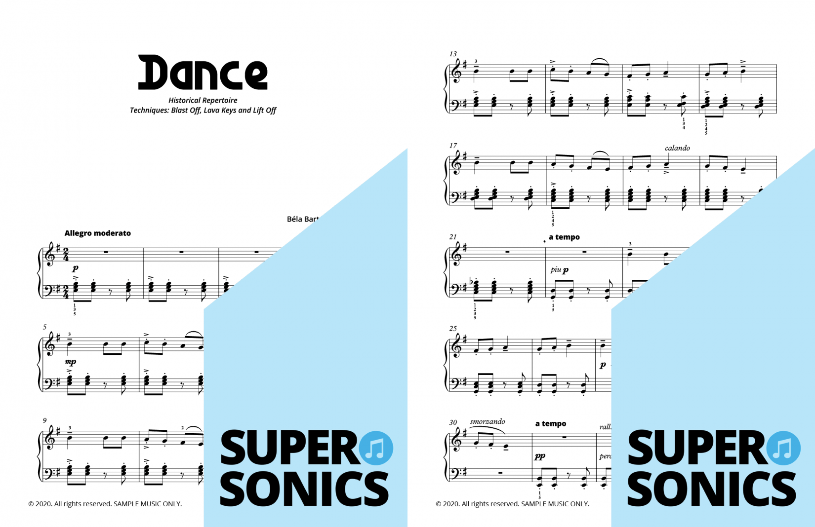 Supersonics Piano Method Quick Start B Historical Sounds sample