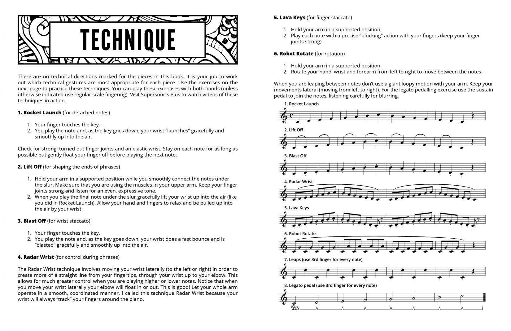 Supersonics Piano Method Level 4 Air Navigators sample