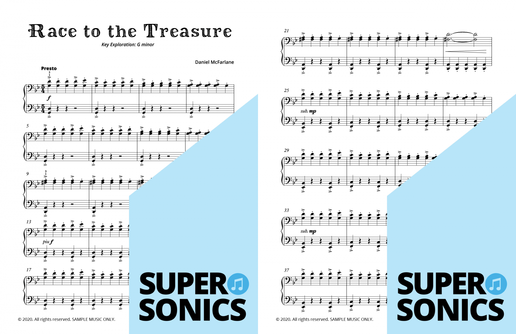 Supersonics Piano Method Level 4 A Pirate's Tale sample