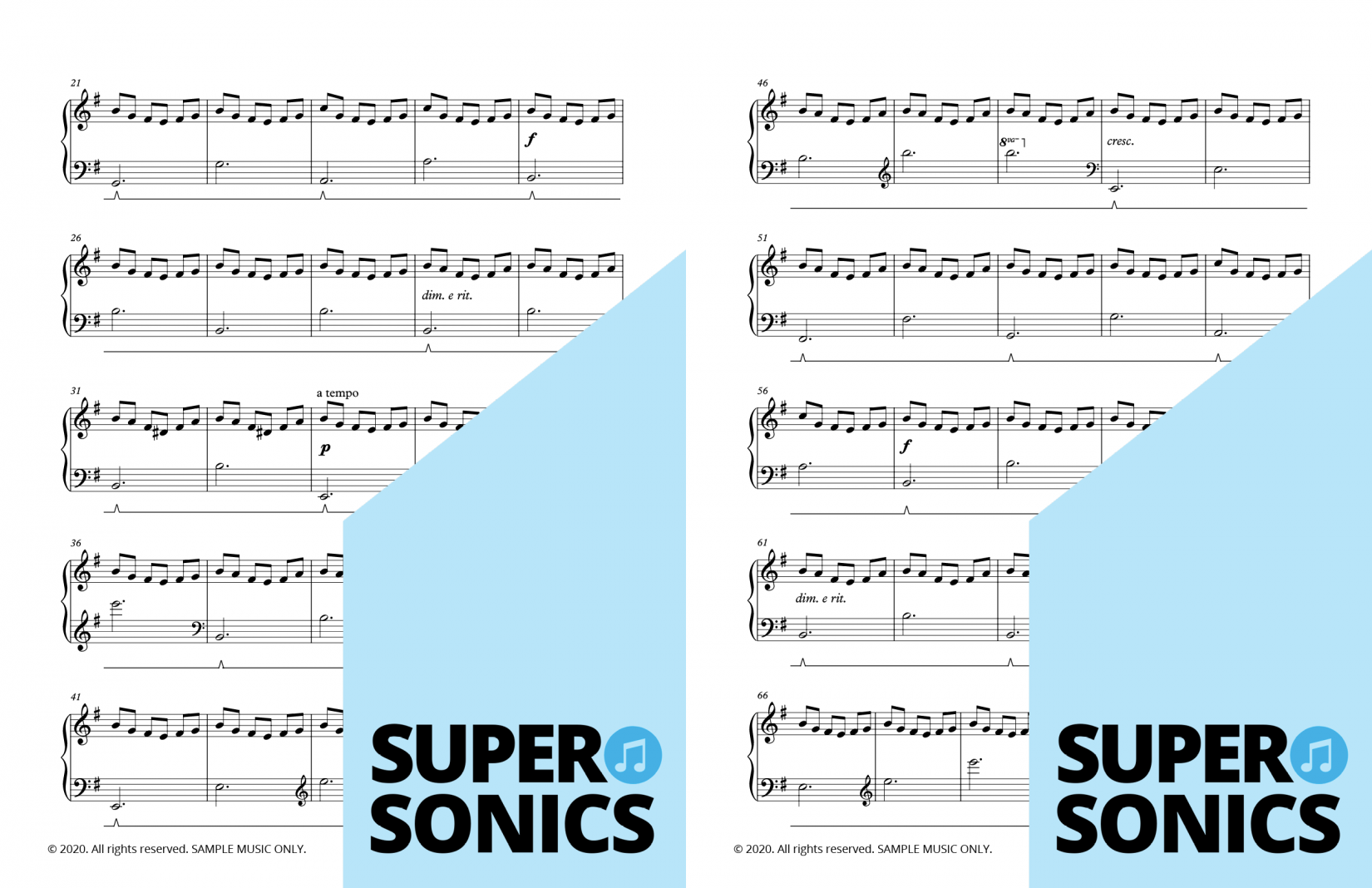 Supersonics Piano Method Level 4 The Lake sample