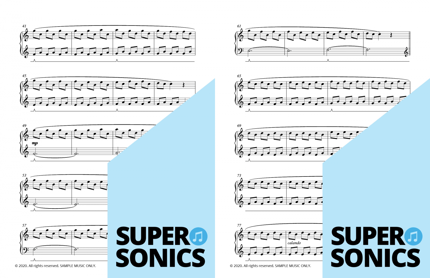 Supersonics Piano Method Level 4 Out of the Ordinary sample