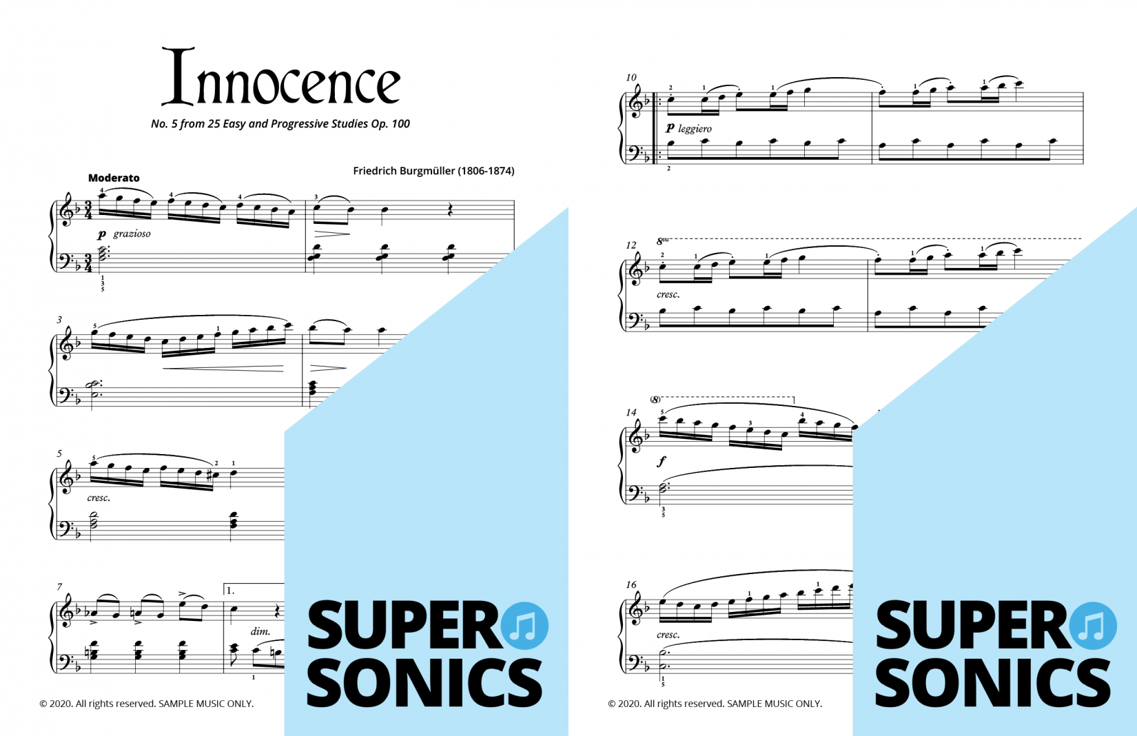 Supersonics Piano Method Level 4 Historical Sounds sample