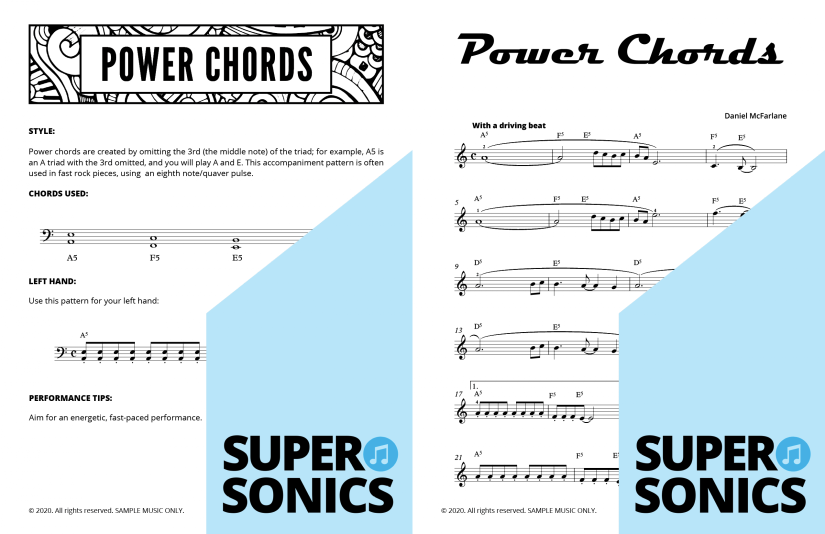 Supersonics Piano Method Level 4 Chords sample