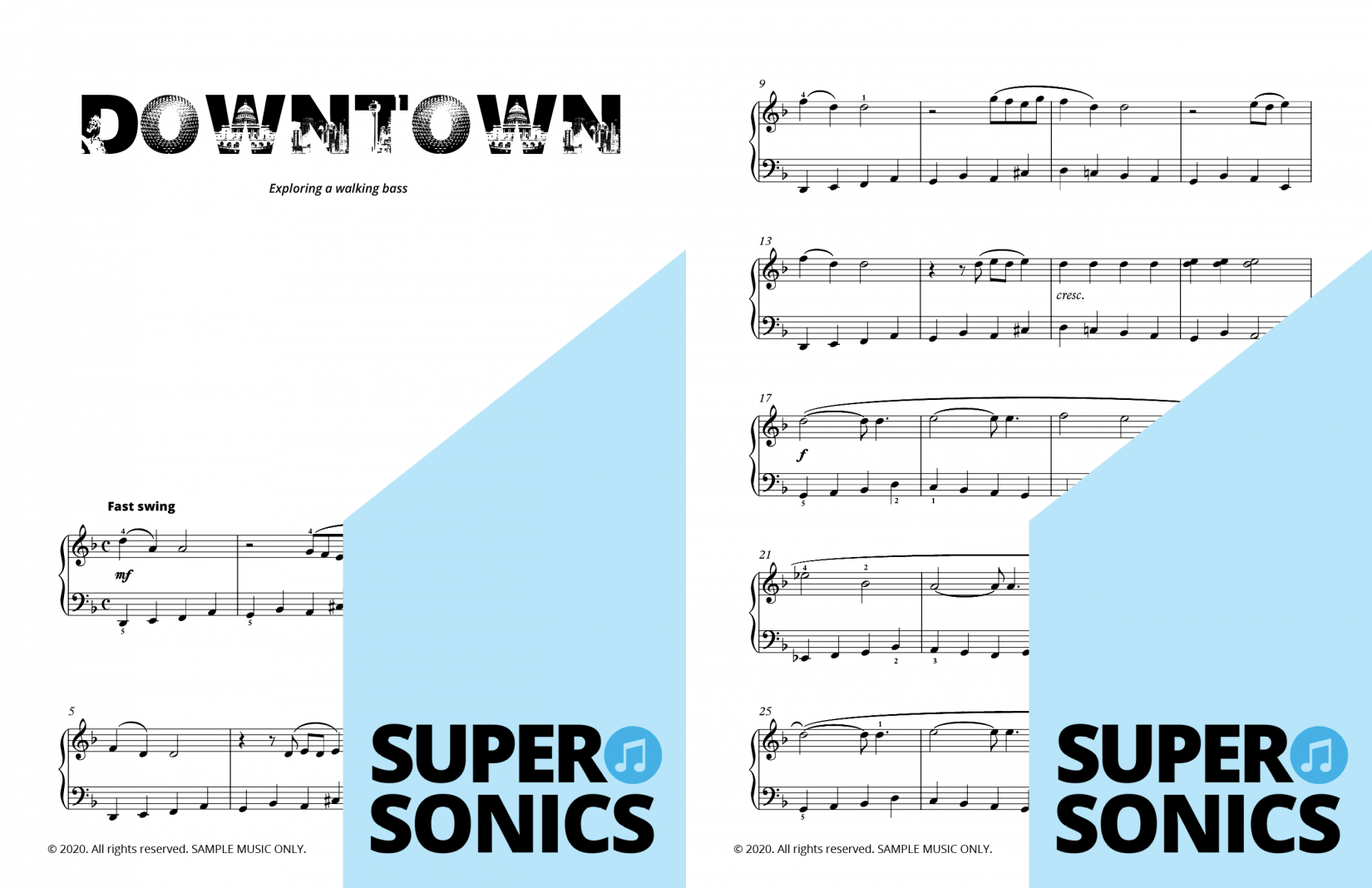 Supersonics Piano Method Level 4 Jazzy sample