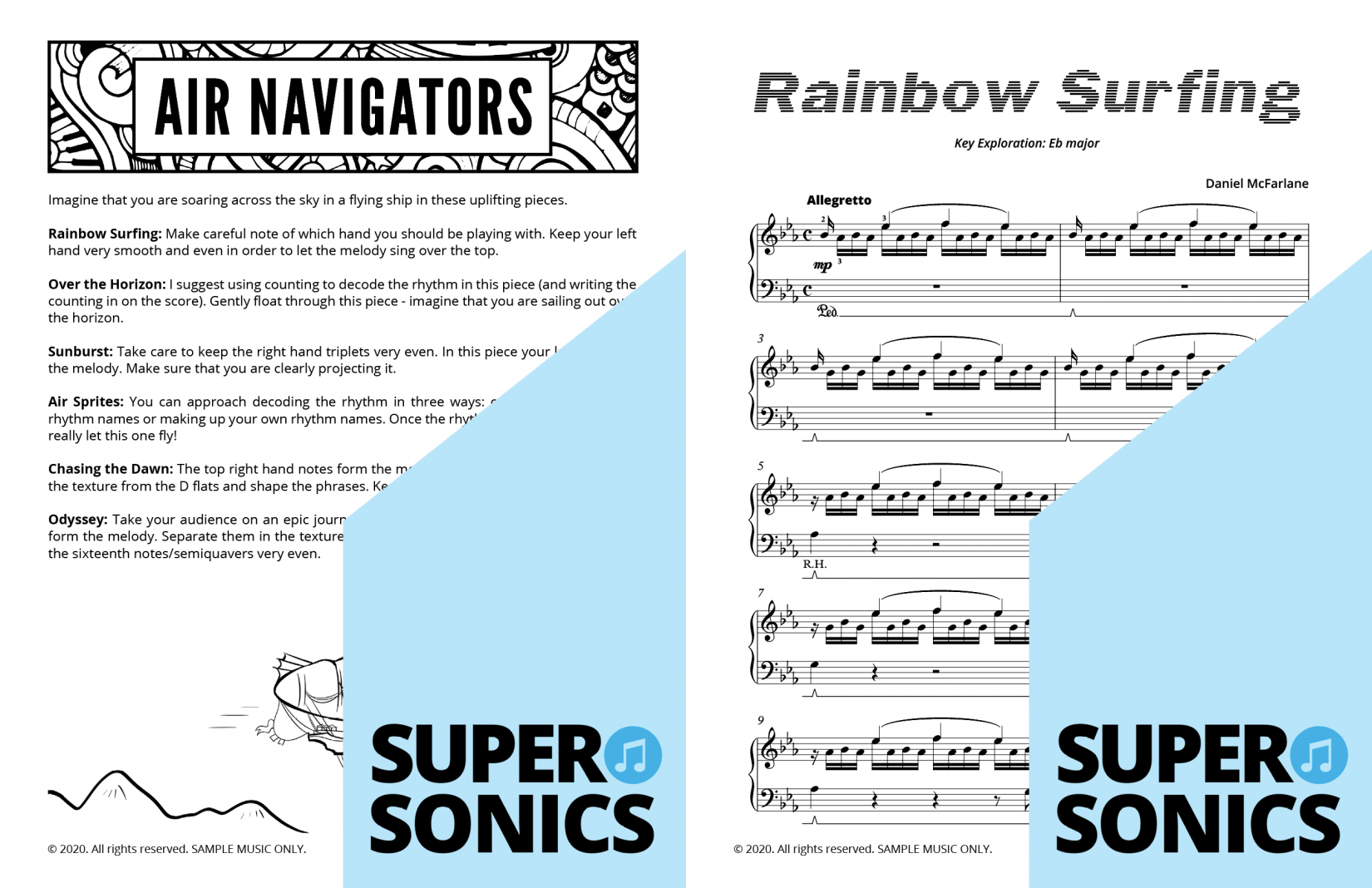 Supersonics Piano Method Level 5 Air Navigators sample