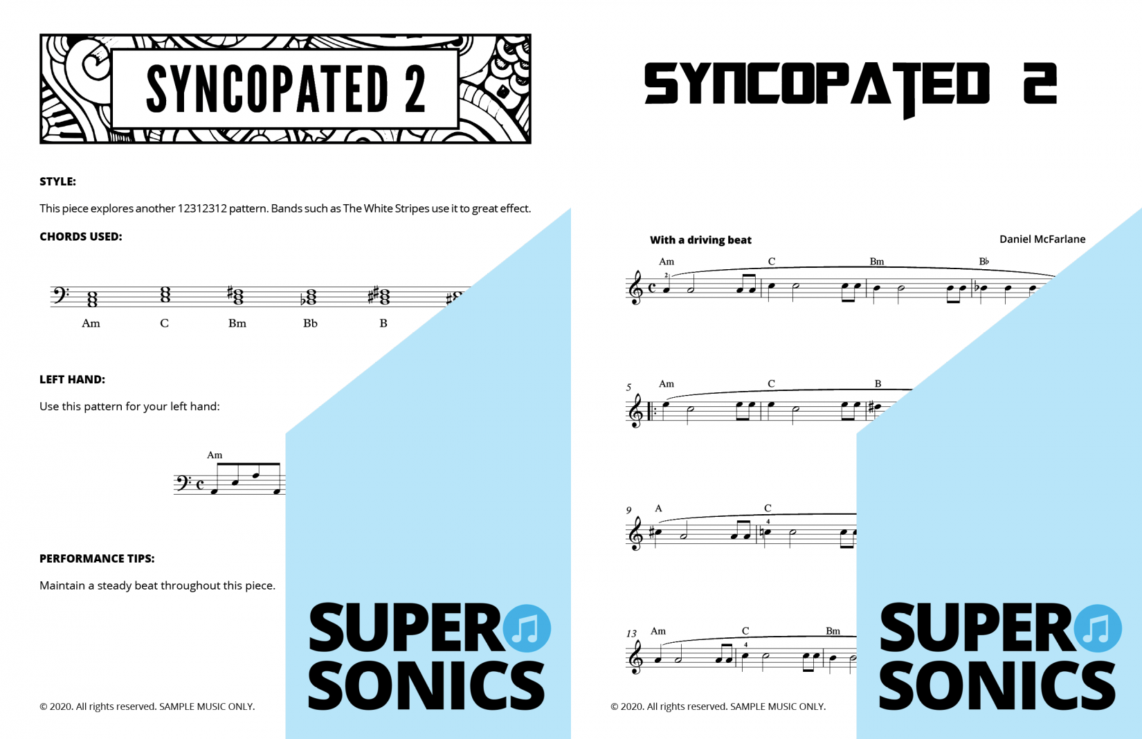 Supersonics Piano Method Level 5 Chords sample