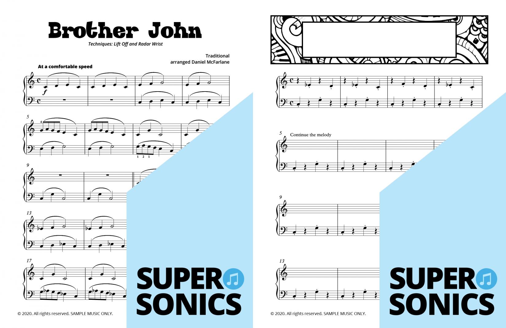 Supersonics Piano Method Module 13 sample
