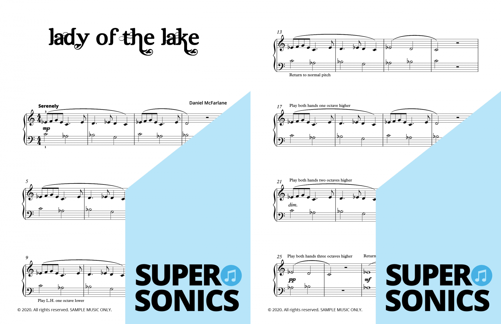 Supersonics Piano Land of the Middle Seas sample