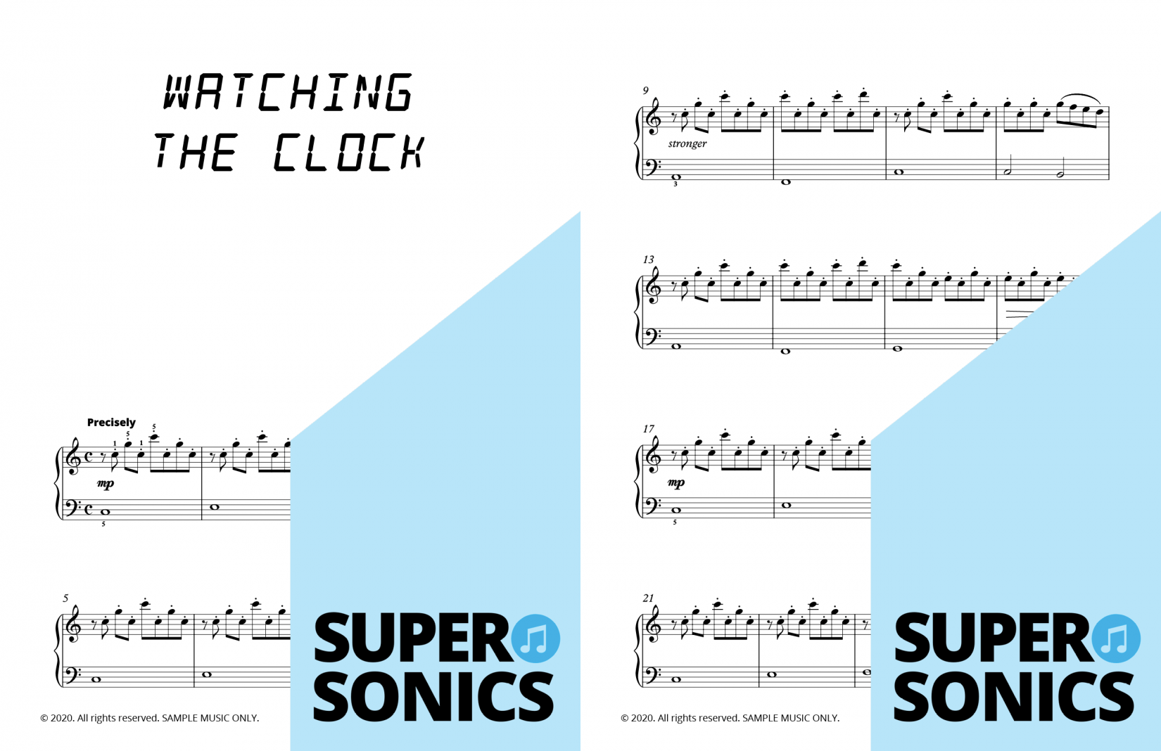 Supersonics Piano Beat the Clock One sample