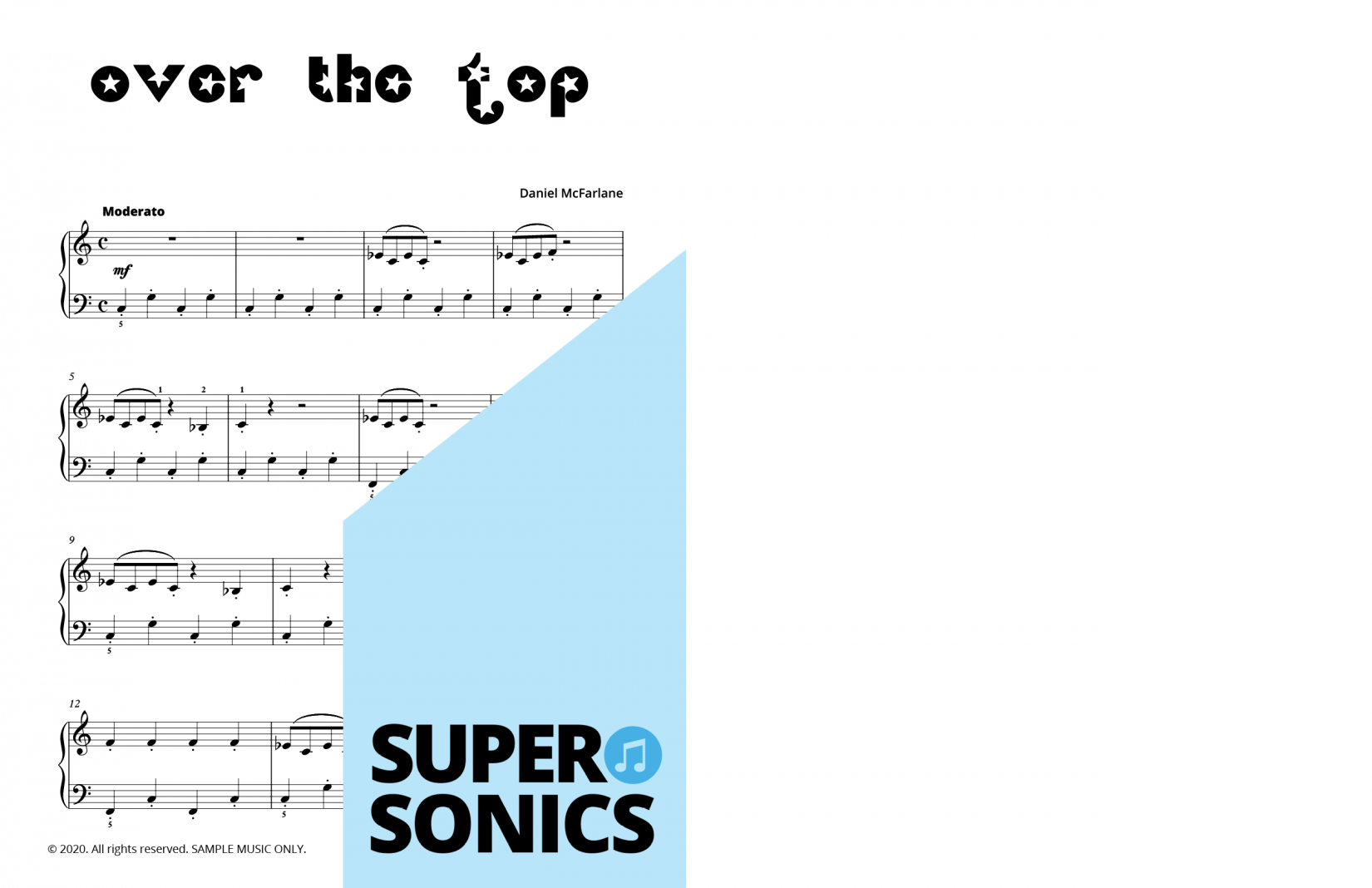 Supersonics Piano Collection One sample