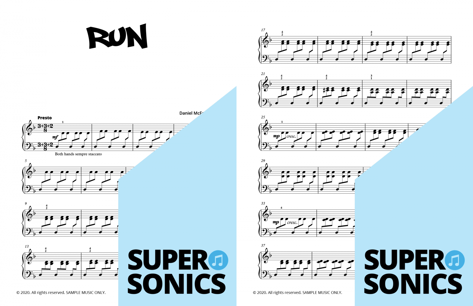 Supersonics Piano Collection Two sample
