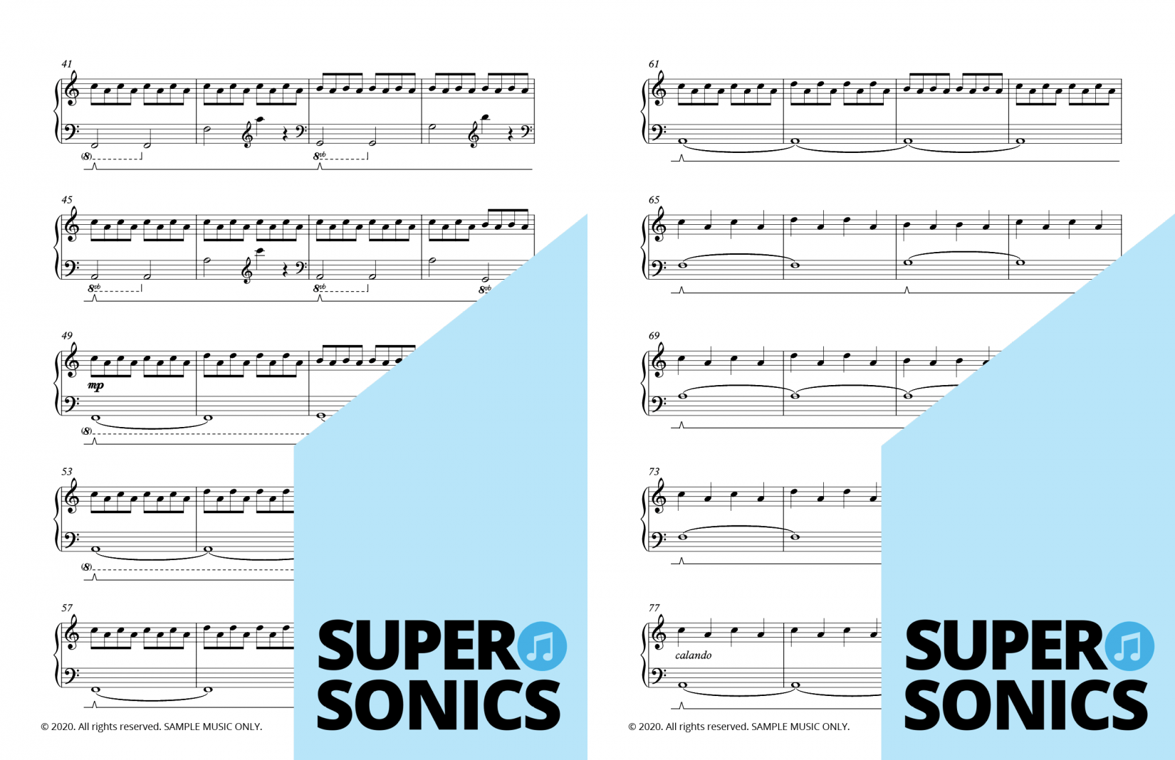Supersonics Piano Collection Three sample