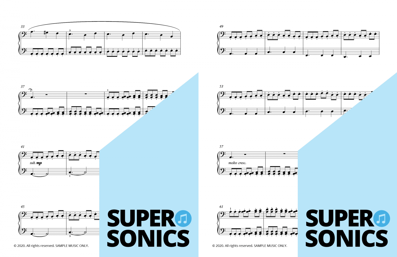 Supersonics Piano Collection Four sample