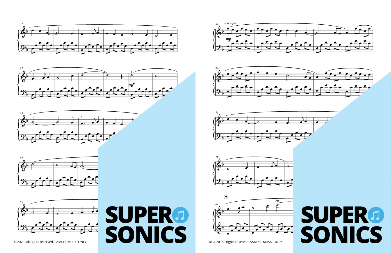 Supersonics Piano Collection Five sample